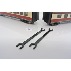 """T8A, """"long"""" coupling for Loco HO ROCO BR VT 11.5, 2pcs"""