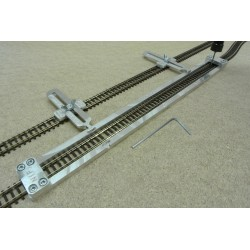 N/F/L300/C1, Track Laying Template Straight 300mm for Flex Track N FLEISCHMANN + 2 adjustable couplings