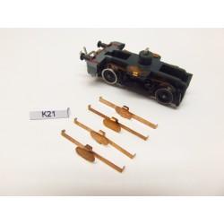 K21/TT, contacts for V180,V200 ZEUKE, 4pcs / non-original