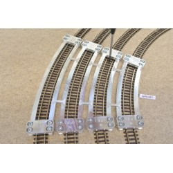 N/PE/SET, Arched Track Laying Templates for Flex Track N PECO, 4 pcs