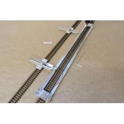 N/PE/L300/C1 Gleisschablone gerade,lange 300mm 1St.mit einstellbaren Kupplungen,2St.