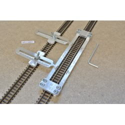 N/PE/L150/C1, Track Laying Template Straight 150mm for Flex Track N PECO + 2 adjustable couplings