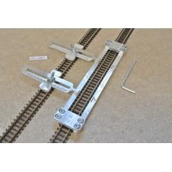 N/PE/L150/C1 Gleisschablone gerade,lange 150mm 1St.mit einstellbaren Kupplungen,2St.