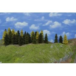Wald N18, Bäume,Fichten, Kiefern, Lärchen, 3-13cm,45 Stück